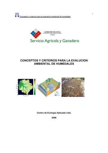 Conceptos y criterios para la evaluación ambiental de humedales