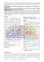 adequação do espaçamento de plantio para o cultivo ... - ABH