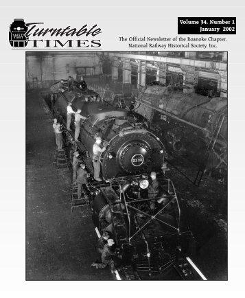 January 2002 - Roanoke Chapter National Railway Historical Society