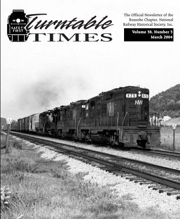 March 2004 - Roanoke Chapter National Railway Historical Society