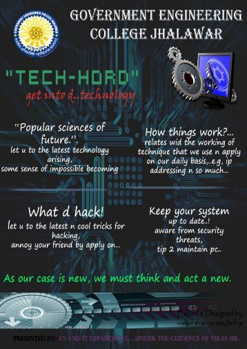 GECJ Magzine 'Tech Hord'