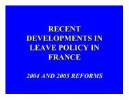 recent developments in leave policy in france - International Network ...