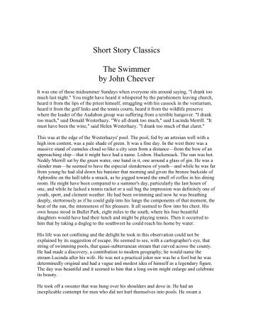 An analysis of john cheevers story the swimmer