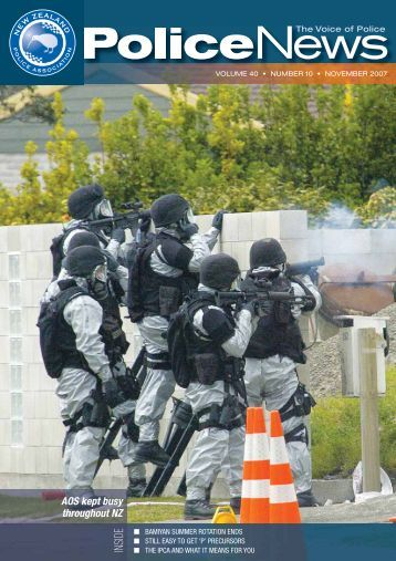AOS kept busy throughout NZ - New Zealand Police Association