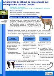Amélioration génétique de la résistance aux ... - TransFAIRE - Inra