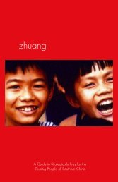 30 Days for the Zhuang (Prayer Guide) - Mekong Springboard Mission