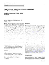 Molecular mass spectrometry imaging in biomedical and life science ...