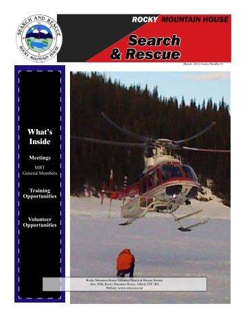 Search & Rescue Search & Rescue - Rocky Mountain House SAR