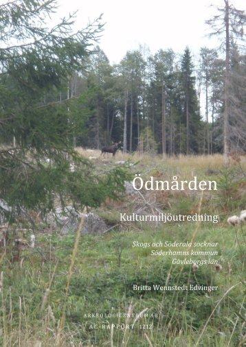 Kulturmiljöutredning Ödmården - Bergvik Skog informerar om vindkraft