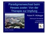 Paradigmenwechsel beim Herpes zoster: Von der Therapie zur ...