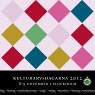 kulturarvsdagarna 2012 - Sveriges Museer