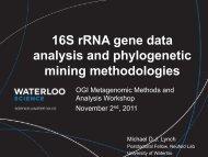16S rRNA gene data analysis and phylogenetic mining methodologies