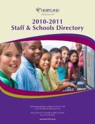 2010-2011 Staff & Schools Directory - Heartland AEA 11