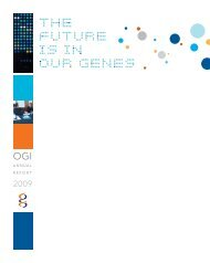 Annual Report 2009 - Ontario Genomics Institute