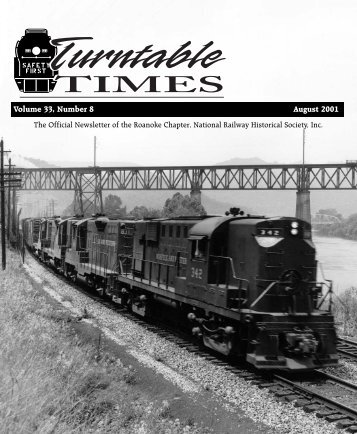 August 2001 - Roanoke Chapter National Railway Historical Society