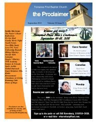 the Proclaimer the Proclaimer - Torrance First Baptist Church