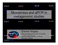 Microarrays and qPCR Yergeau CSM - Ontario Genomics Institute