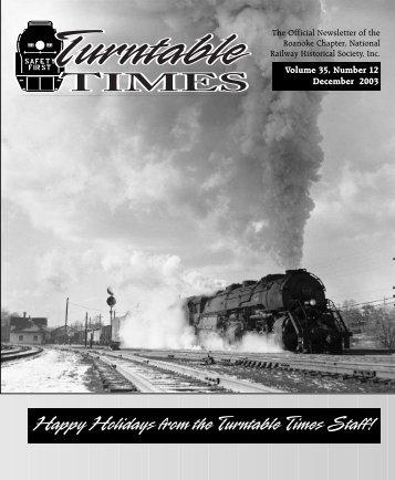 December 2003 - Roanoke Chapter National Railway Historical ...