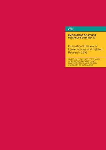 International Review of Leave Policies and Related Research 2006