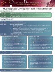28-30 March 2011 - MCE Deepwater Development