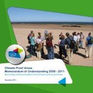Climate Proof Areas Memorandum of Understanding 2008 - 2011