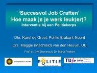 Succesvol Job craften door middel van een ... - Innovatief in Werk