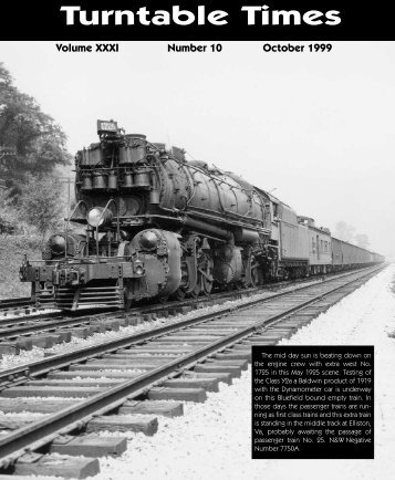 October 1999 - Roanoke Chapter National Railway Historical Society