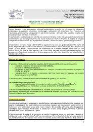"""progetto """"i colori del bosco"""" - Parco Regionale dei Castelli Romani"""