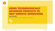 USING TECHNOLOGICALLY ADVANCED PRODUCTS TO HELP IMPROVE OPERATIONS