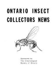 Ontario Insect Collectors News - Toronto Entomologists' Association