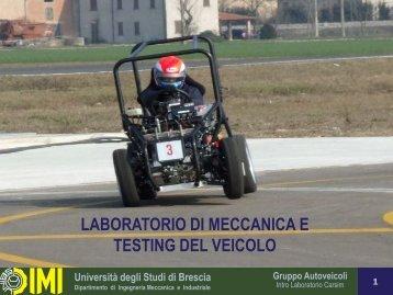 Introduzione al corso - Università degli Studi di Brescia