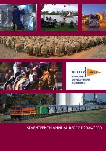 seventeenth annual report 2008/2009 - RDA Murraylands and ...