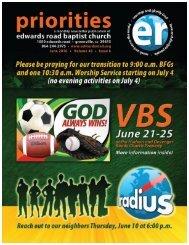 ERBC ministry continues! - Edwards Road Baptist Church