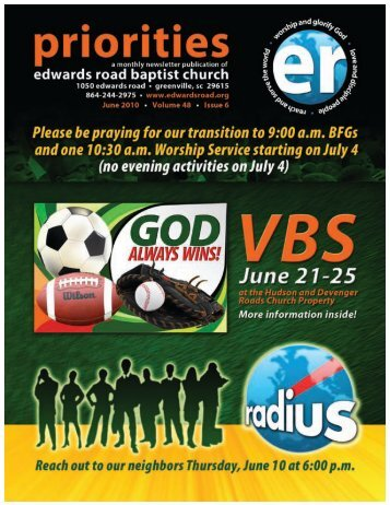 ERBC ministry continues! - Edwards Road Baptist Church