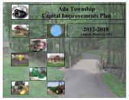 Approved Capital Improvement Plan (CIP) - Ada Township