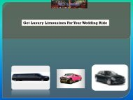 Get Luxury Limousines For Your Wedding Ride
