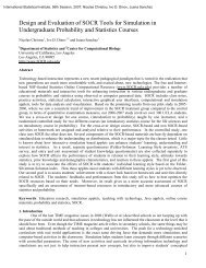 Design and Evaluation of SOCR Tools for Simulation in ...