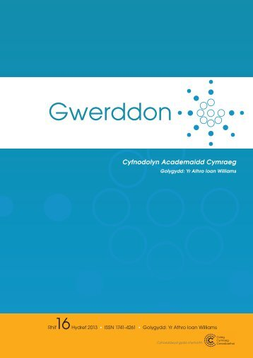 Cover idea for Issue 13 - Gwerddon