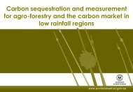 Carbon sequestration and measurement for agro-forestry and the ...