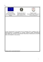 Unione Europea Fondo Sociale Europeo D.G. Occupazione e Affari ...