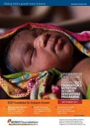 September 2011 - ICICI Foundation