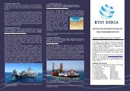 section for offshore technology year programme 2012/2013