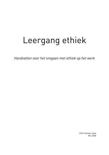 Leergang ethiek - Innovatief in Werk