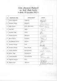 Listy obecności na XXII Sesji Rady Gminy Poświętne w dniu 30 ...