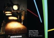 Ross Manning Spectra catalogue