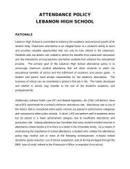 ATTENDANCE POLICY LEBANON HIGH SCHOOL