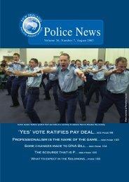 NZPA News August - New Zealand Police Association