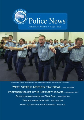 NZPA News August - New Zealand Police Association
