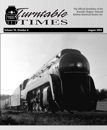 August 2004 - Roanoke Chapter National Railway Historical Society