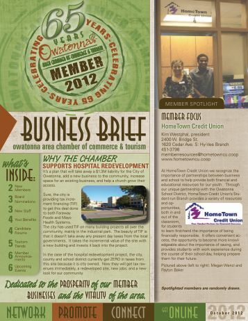 member announcements - Owatonna Chamber of Commerce and ...